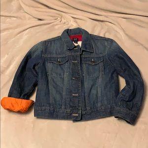 {kids gap} jean jacket with lining